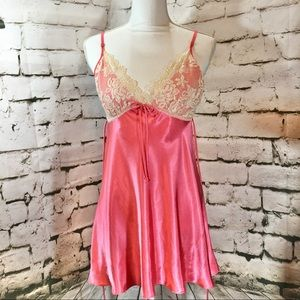 In Bloom by Jonquil Coral Lace Teddy